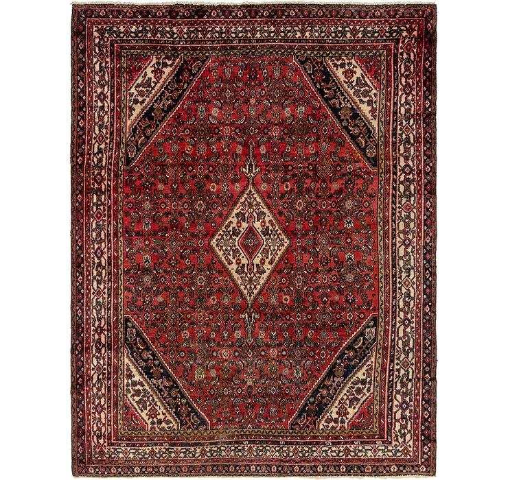 8' 7 x 11' 6 Hossainabad Persian Rug