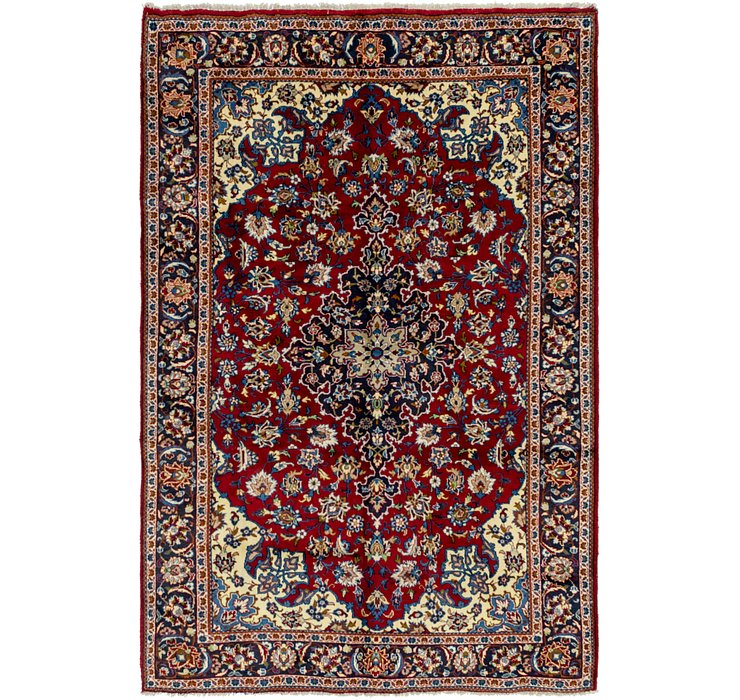 6' 8 x 10' Isfahan Persian Rug