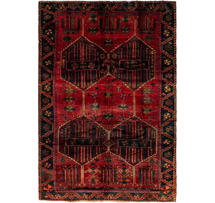6' x 9' 3 Shiraz Persian Rug