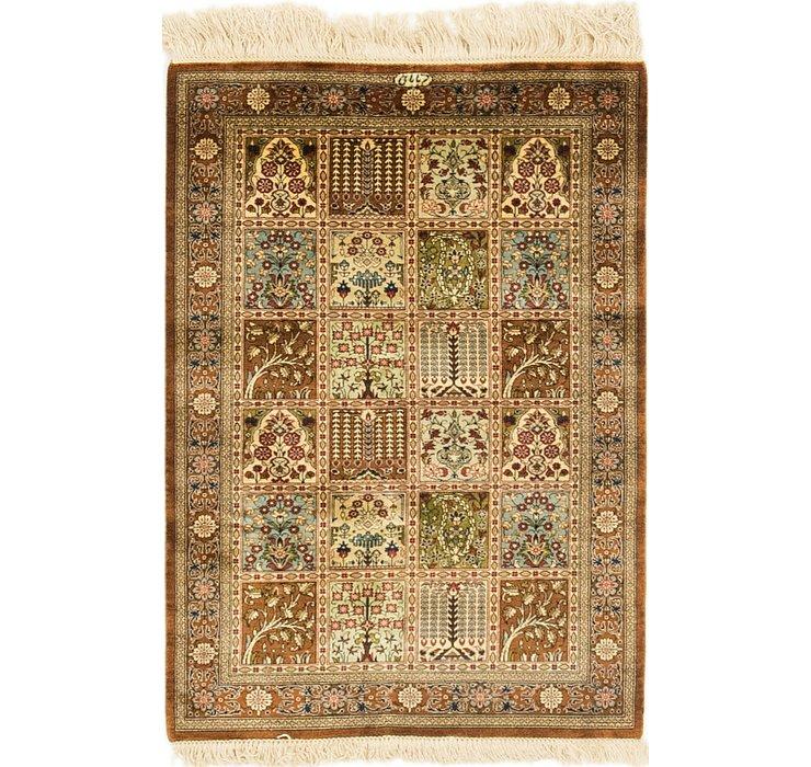 2' x 3' Qom Persian Rug