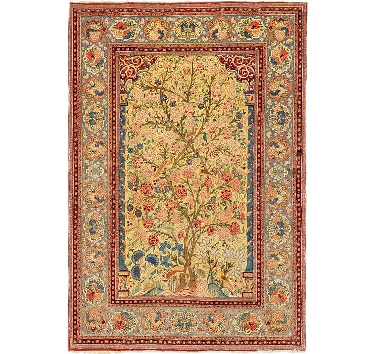 4' 6 x 6' 9 Kashan Persian Rug