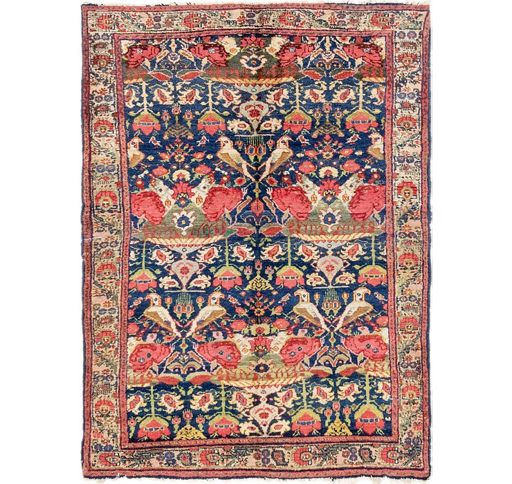 4' x 5' 8 Meshkabad Persian Rug