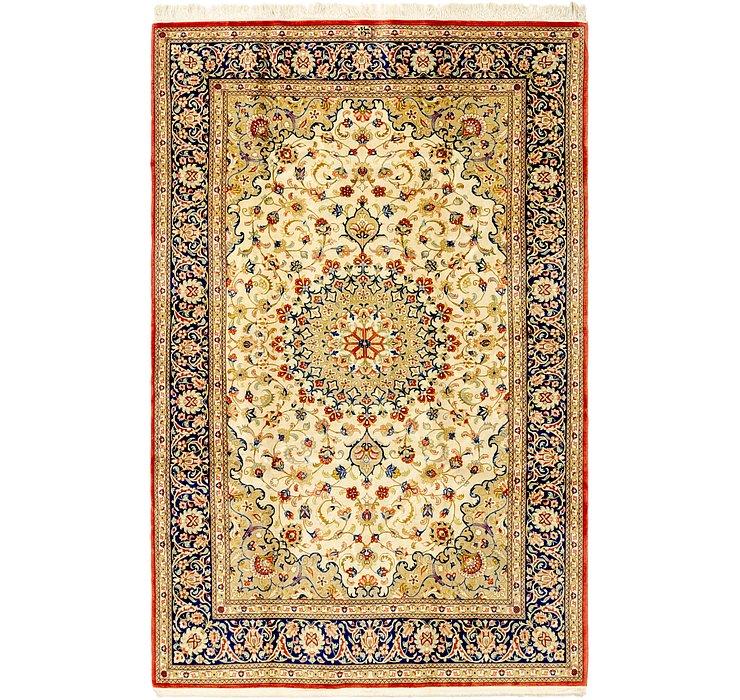 4' 8 x 7' 2 Isfahan Persian Rug