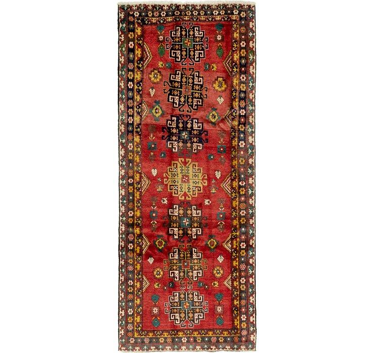4' 6 x 11' Heriz Persian Runner Rug