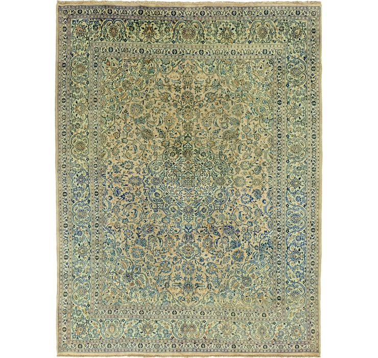 HandKnotted 9' 8 x 12' 9 Mashad Persian Rug