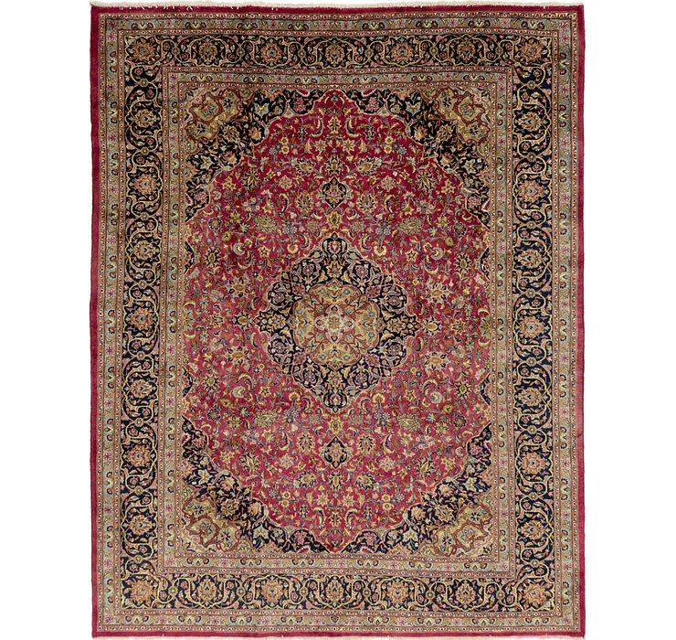 HandKnotted 10' x 12' 9 Mashad Persian Rug