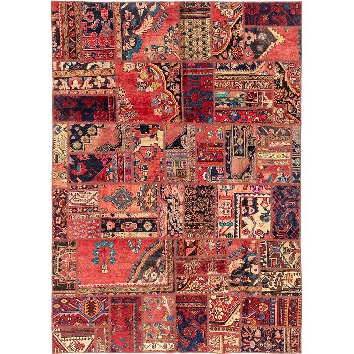 6' 4 x 9' Patchwork Persian Rug