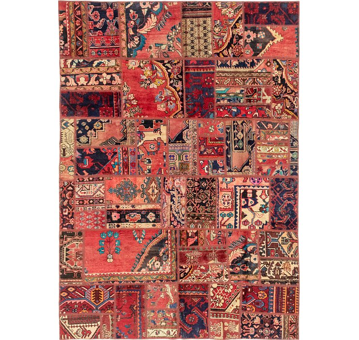 6' 4 x 9' Patchwork Persian Rug