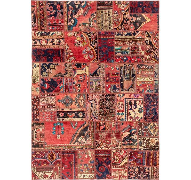 193cm x 275cm Patchwork Persian Rug