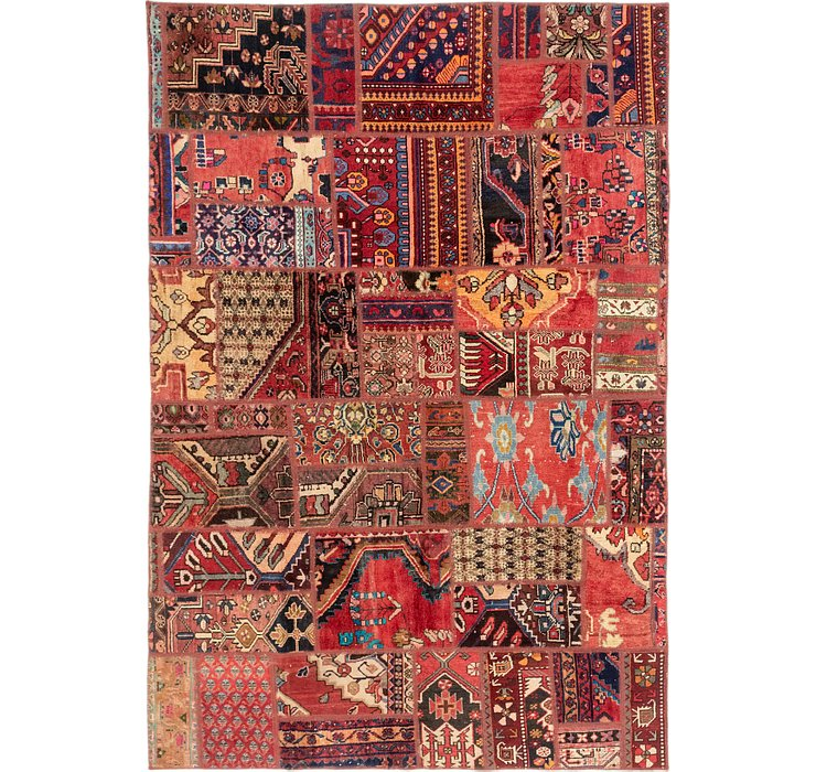 6' x 9' Patchwork Persian Rug