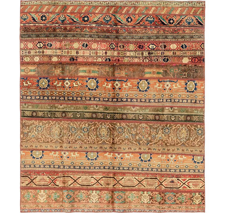 6' 5 x 7' 3 Patchwork Persian Rug