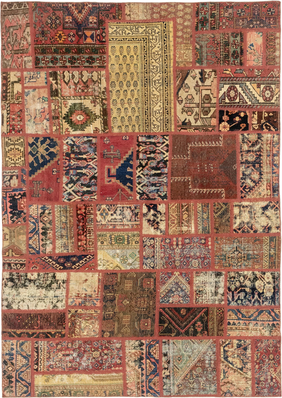 Multicolor 6 5 X 9 2 Patchwork Persian Rug Erugs