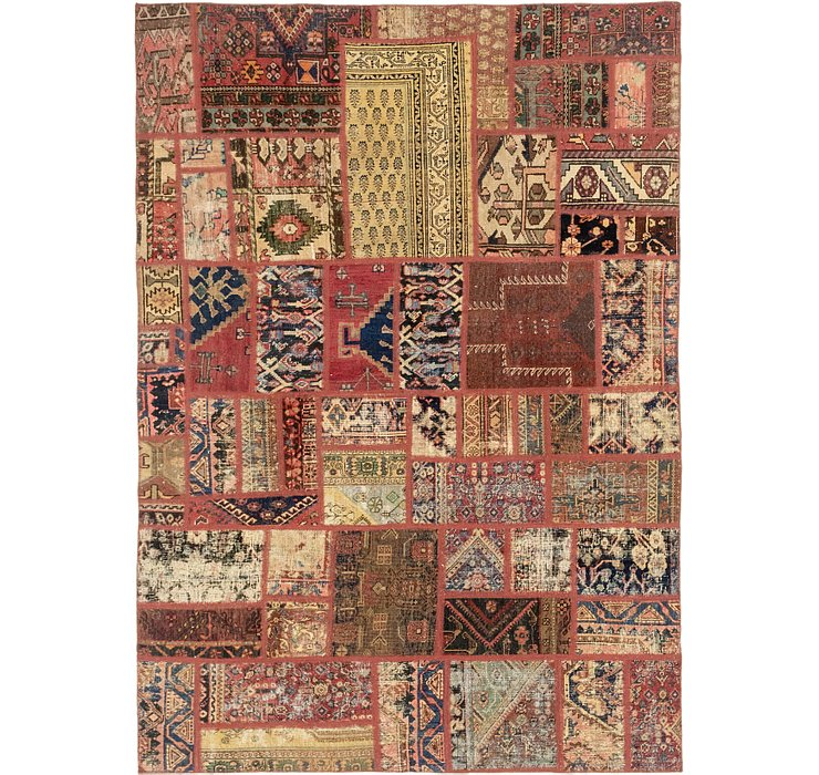 6' 5 x 9' 2 Patchwork Persian Rug