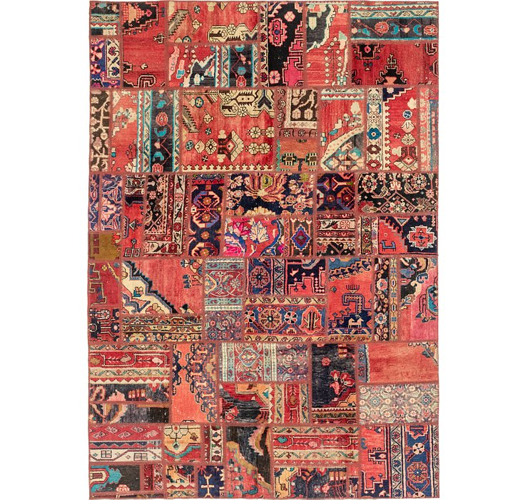 HandKnotted 6' 4 x 9' Patchwork Persian Rug