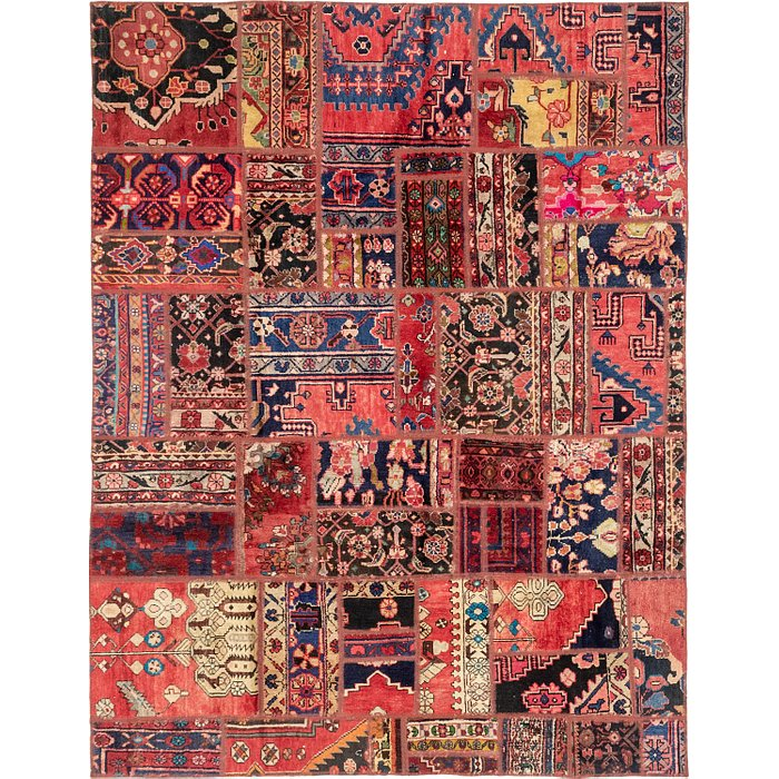 6' 4 x 8' 3 Patchwork Persian Rug