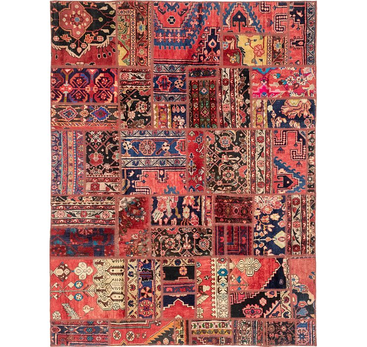 193cm x 250cm Patchwork Persian Rug