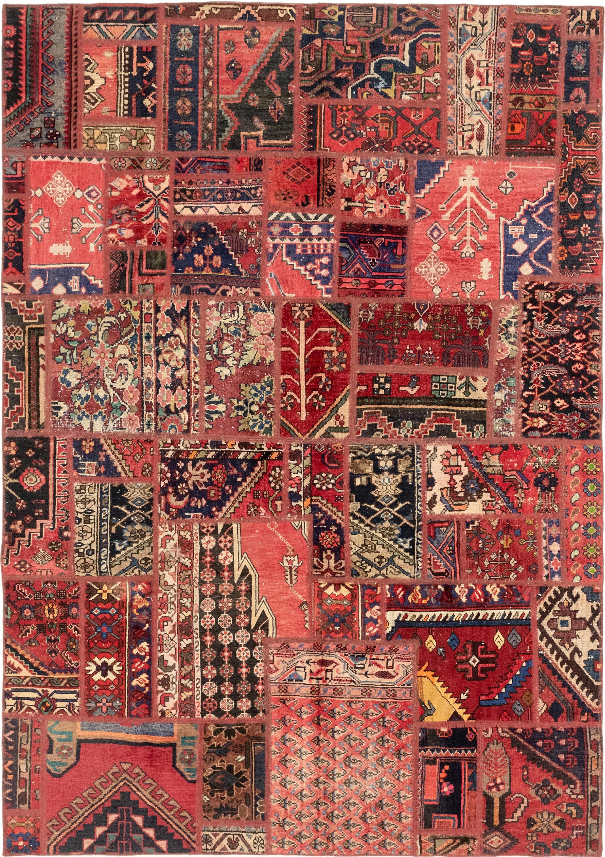 Multicolor 6 X 9 Patchwork Persian Rug Erugs