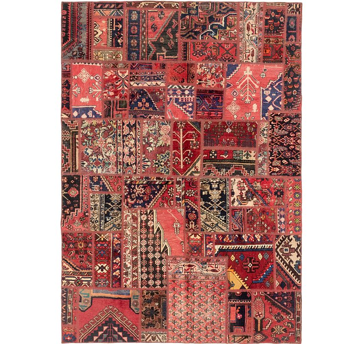 6' 6 x 9' Patchwork Persian Rug