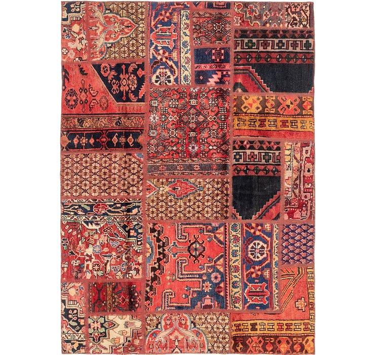 140cm x 198cm Patchwork Persian Rug