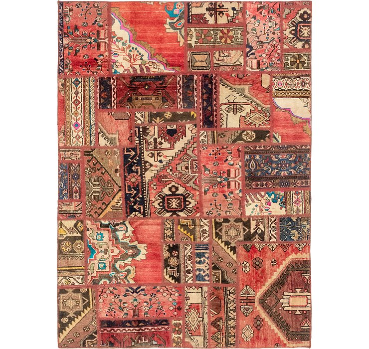 HandKnotted 5' 5 x 7' 7 Patchwork Persian Rug
