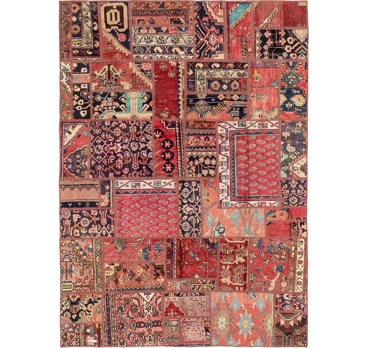 HandKnotted 6' 6 x 9' Patchwork Persian Rug