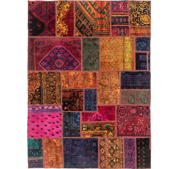 5' 7 x 7' 8 Patchwork Persian Rug