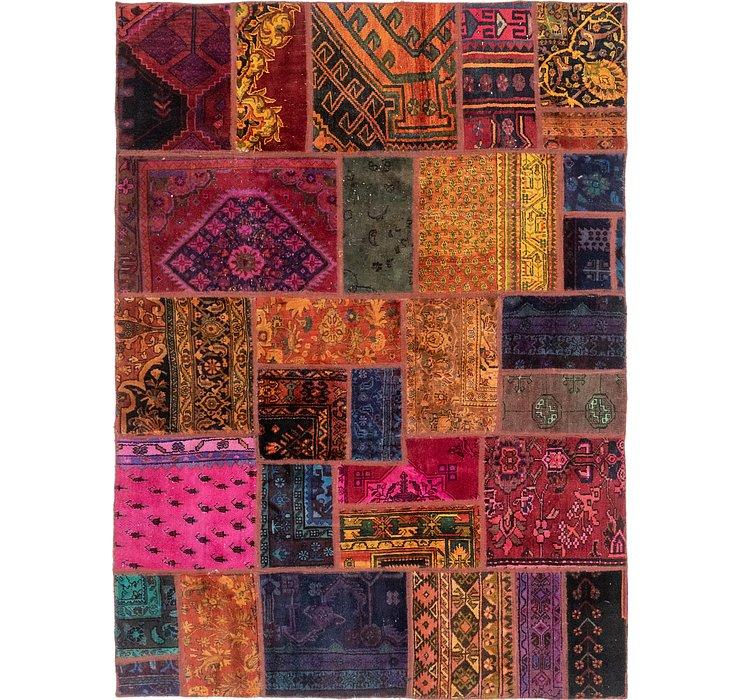 170cm x 235cm Patchwork Persian Rug