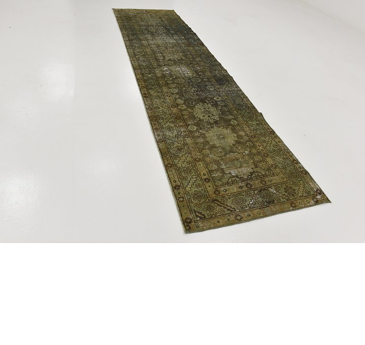 HandKnotted 3' 3 x 11' 9 Ultra Vintage Persian R...