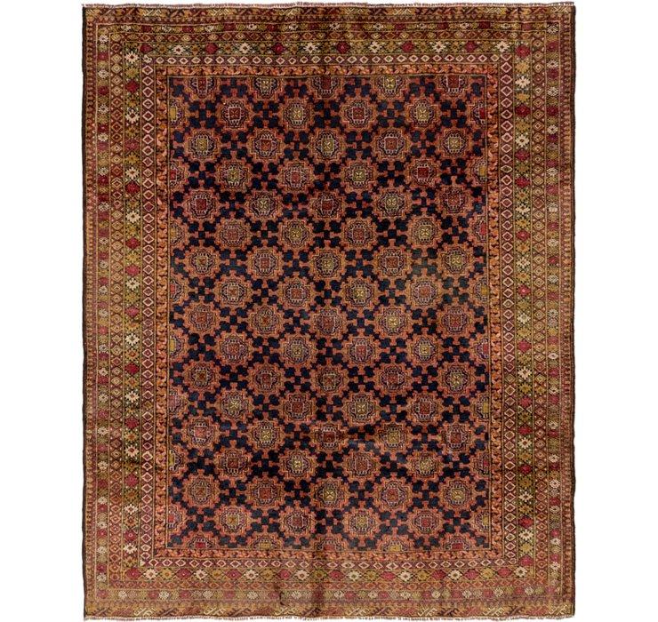 6' 10 x 8' 7 Meshkin Persian Square ...