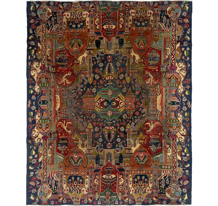 9' 9 x 12' 2 Kashmar Persian Rug