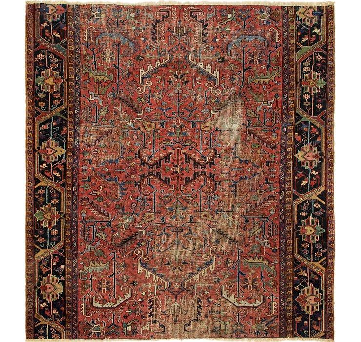 9' x 9' 9 Heriz Persian Square Rug