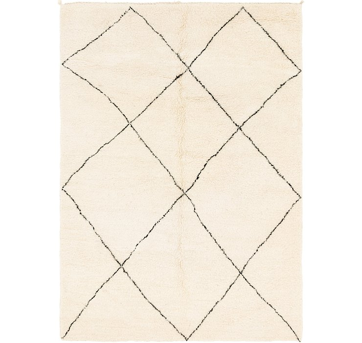 HandKnotted 6' 8 x 9' 9 Moroccan Rug
