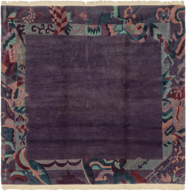 Purple 8' 2 X 8' 3 Nepal Square Rug