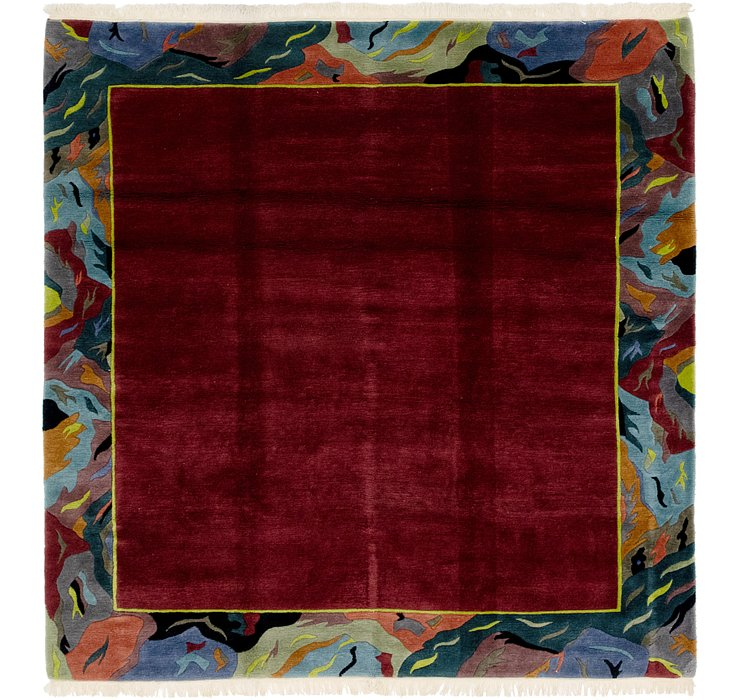 HandKnotted 8' 2 x 8' 3 Nepal Square Rug