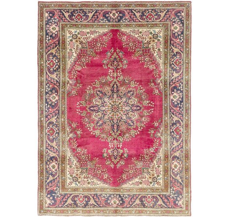 7' x 9' 6 Tabriz Persian Rug