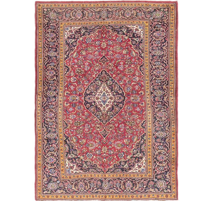 HandKnotted 6' 7 x 9' 4 Mashad Persian Rug