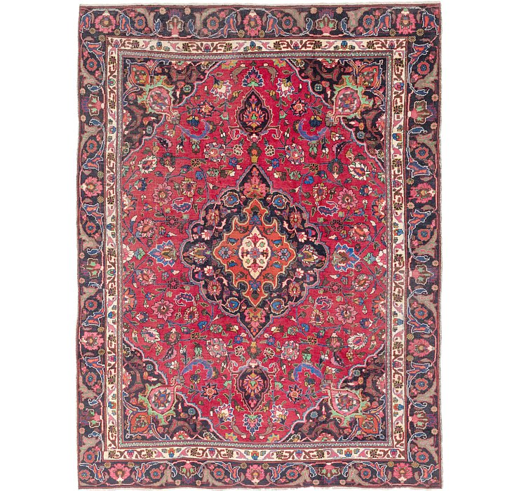 HandKnotted 8' 10 x 12' Mashad Persian Rug