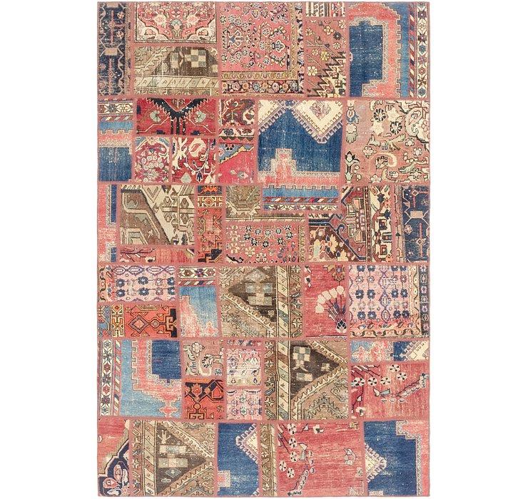 6' 4 x 9' 8 Ultra Vintage Persian Rug