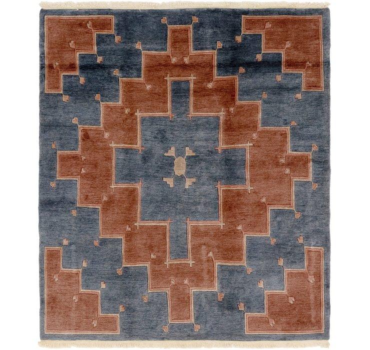 6' 8 x 7' 9 Nepal Square Rug