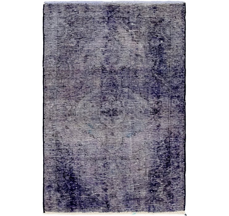 90cm x 140cm Ultra Vintage Persian Rug