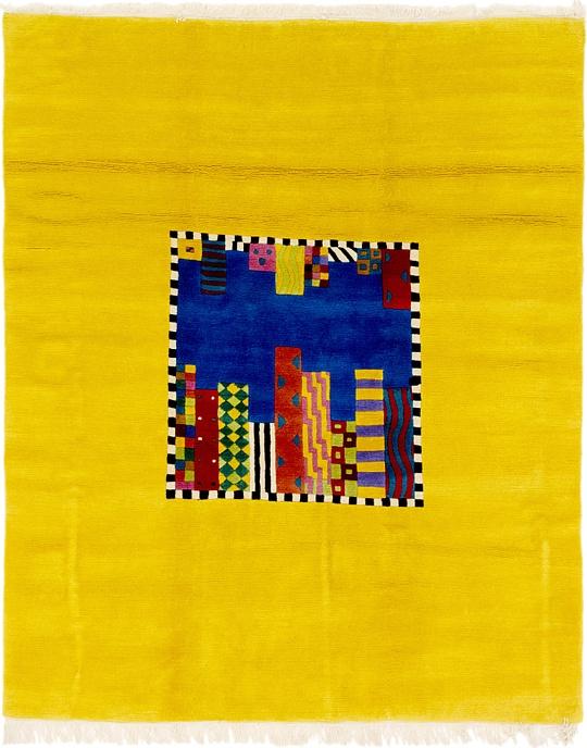 Yellow  6' 5 x 7' 9 Nepal Square