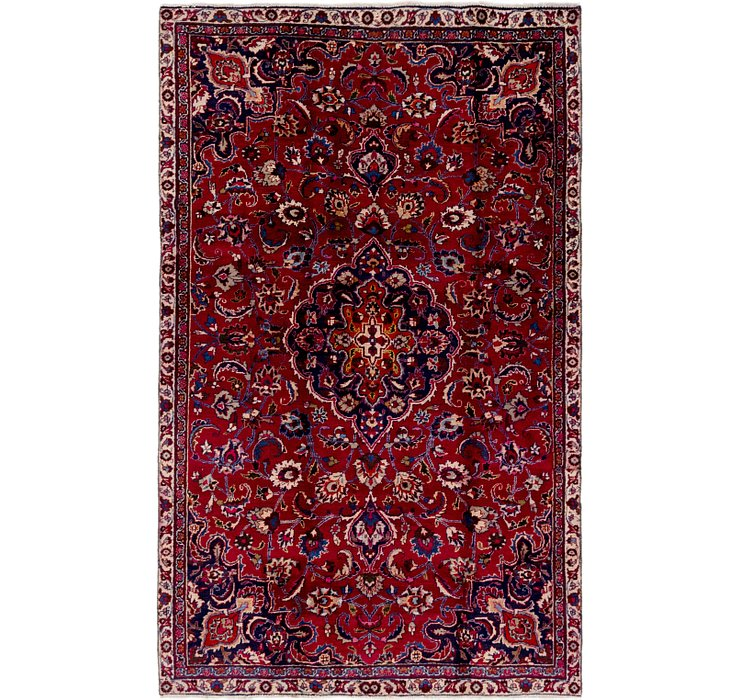 5' x 8' 2 Mashad Persian Rug