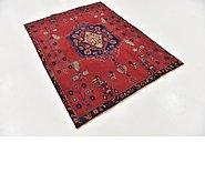 Link to 4' 6 x 6' 2 Hamedan Persian Rug