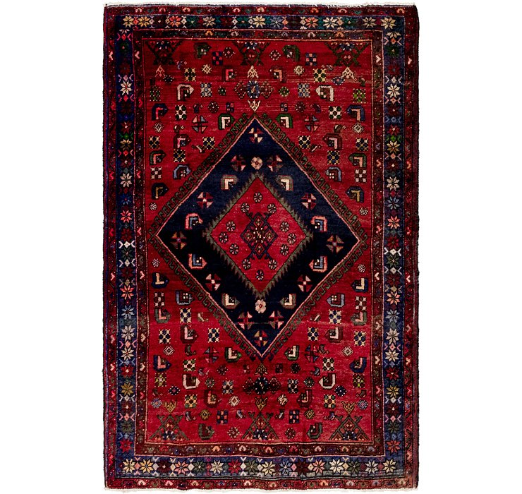 4' 4 x 6' 8 Gholtogh Persian Rug