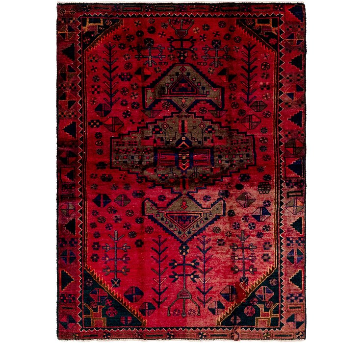 4' 10 x 6' 6 Hamedan Persian Rug