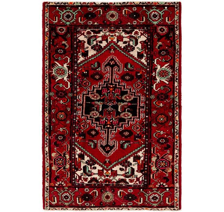 4' 2 x 6' 2 Khamseh Persian Rug
