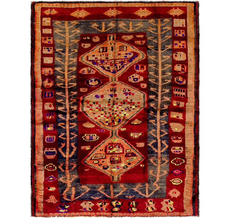 142cm x 183cm Shiraz-Lori Persian Rug