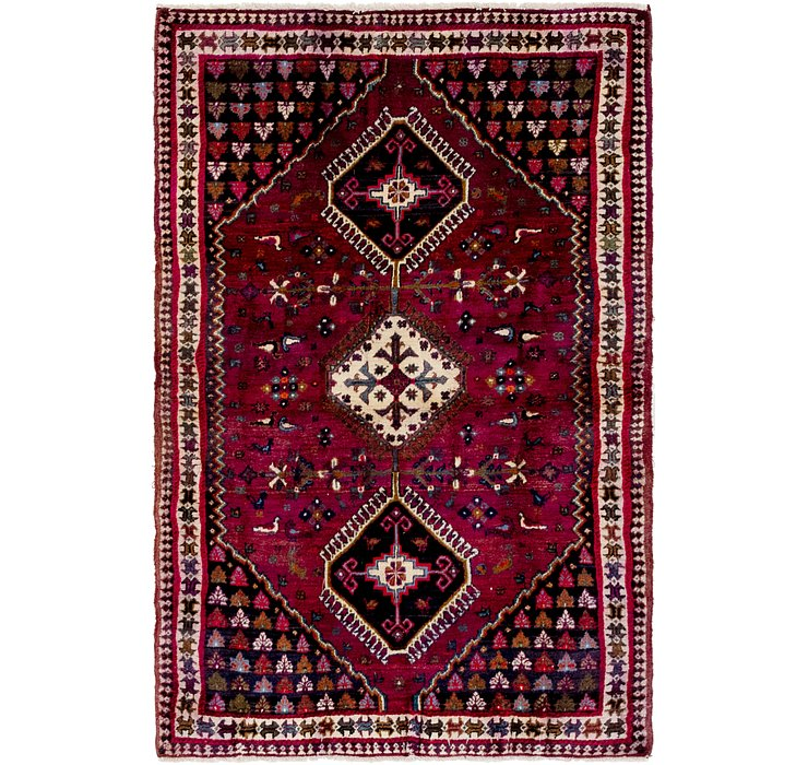 4' 5 x 6' 10 Shiraz Persian Rug