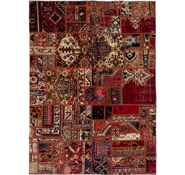 HandKnotted 5' 6 x 7' 8 Ultra Vintage Persian Rug