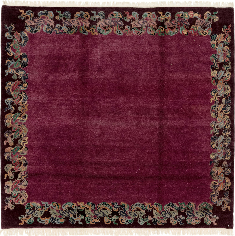 Purple 8' X 8' 6 Nepal Square Rug